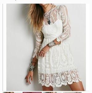 Jen's Pirate Booty Ivory Pixie Lace Dress